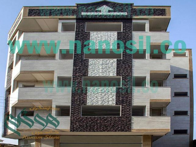 سنگ نما نانو سمنت پلاست با قيمت مناسب دكوراسيون بيرون ساختمان