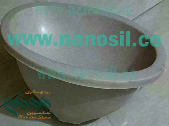Production of sink | Sink production line Coreen stone sink production line Swarovski Crushed Stone Cabinets Similar to Granite Marble Curry | Honam Artificial Stone