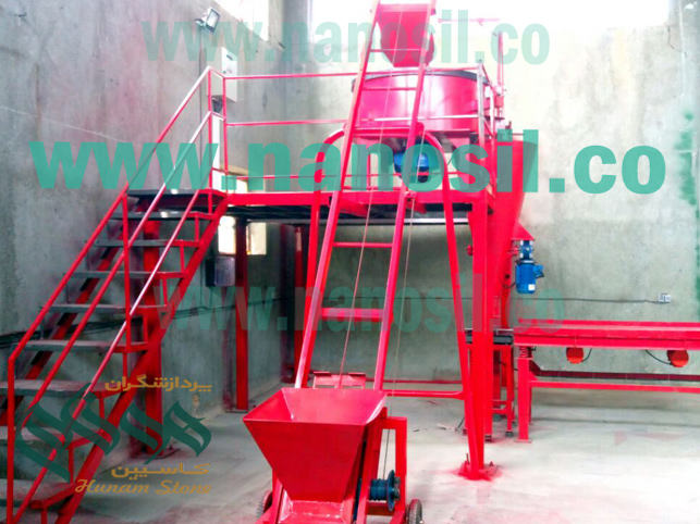 Semi-automatic production line of artificial nano cement plast | Non-standard mosaic stone production line