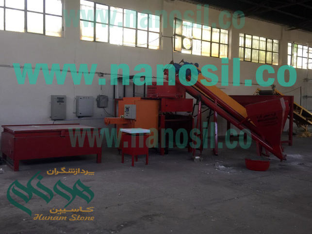 Artificial Stone Line | Non-standard semiautomatic production line Production of synthetic rocks of nano-cement plast