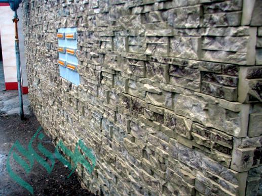 سنگ آنتیک بادبر - سنگ مصنوعی - خط تولید نیمه اتوماتیک سنگ مصنوعی سمنت پلاست : سنگ آنتیک نمای ساختمان سمنت پلاست