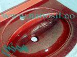 سینک روشویی مرمر کورین قرمز|آموزش تولید سینک