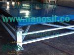 میز ویبره 2*3 متر|میز ویبره سنگ موزاییک آنتیک سمنت پلاست