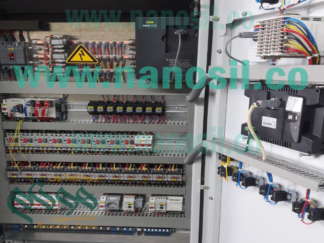 Central Control Panel System The automated production line of artificial stone quartz grave
