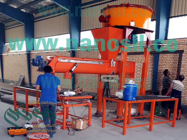 Quartz production line, Tombstone production line, Quartz mixer, Quartz molding, Roller table and weighing