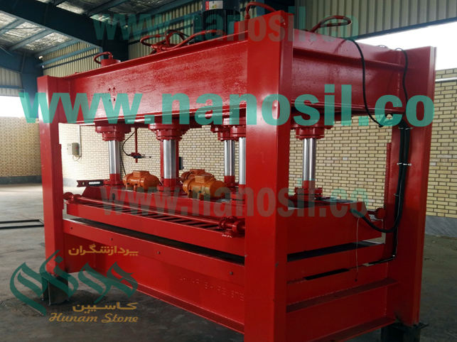 Artificial Stone Press Machine Engineering / Quartz Stone Synthetic Quartz Press