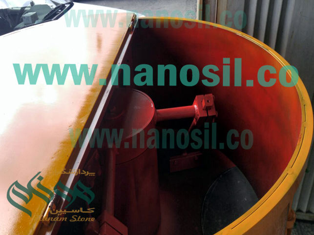 Mixer for producing dye tile adhesive and powder tile adhesive for pan