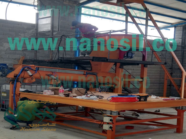 Semi-automatic artificial stone production line software installation