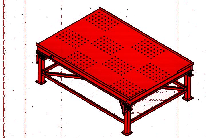 میز ورتیکال ویبره خط تولید سنگ مصنوعی نانو سمنت پلاست
